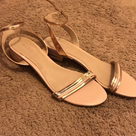 671e84037c1f Aldo Shoes - Rose Gold Aldo Strappy Flats - Size 9